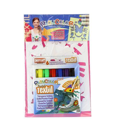 Playcolor-Textil-6-Colores-con-Plantillas-Niña