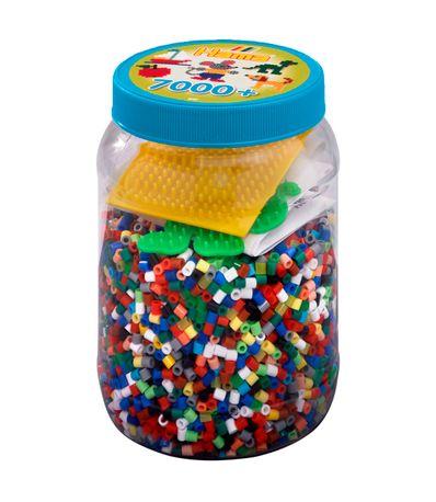 Hama-Beads-Bote-de-7000-con-2-Placas