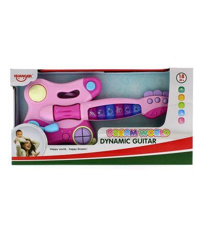 Criancas-de-guitarra-Musical-Rosa