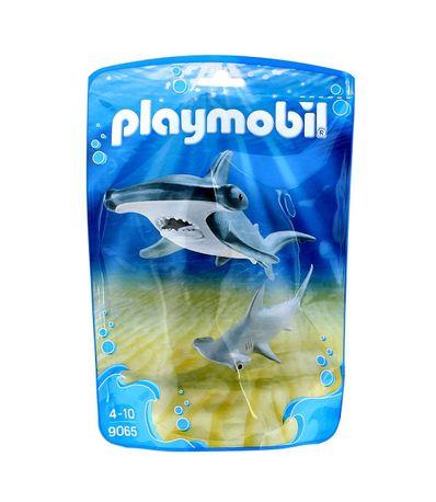 Playmobil-Family-Fun-Tiburon-Martillo-y-Bebe