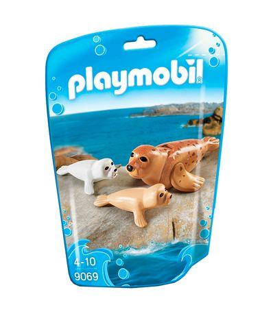 Playmobil-Family-Fun-Foca-con-Bebes