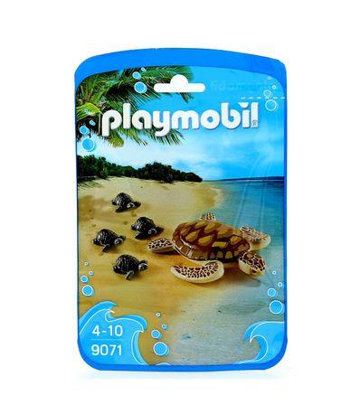 Playmobil-Family-Fun-Tortuga-de-Agua-con-Crias