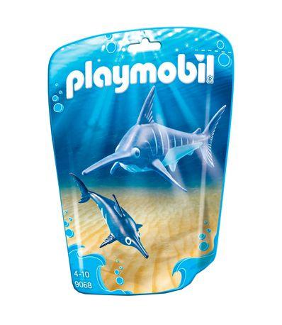Playmobil-Family-Fun-Peixe-Espada-com-Bebe