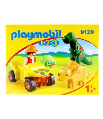 Playmobil-123-Quad-con-Dinos