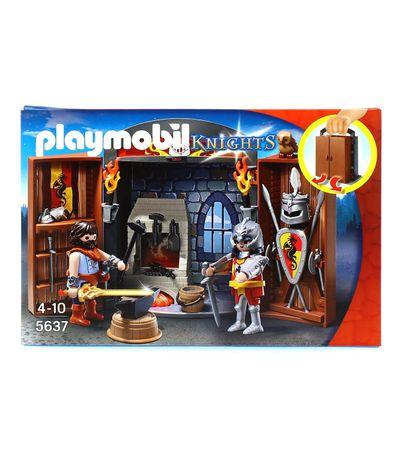 Playmobil-Knights-Cofre-Caballeros-Taller-de-Espadas
