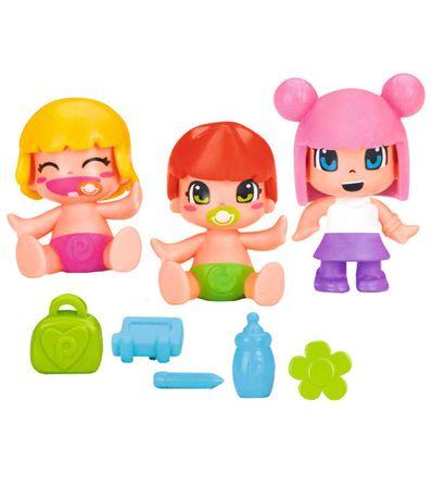 Pinypon-Niños-y-Bebes-con-Coche-de-Juguete