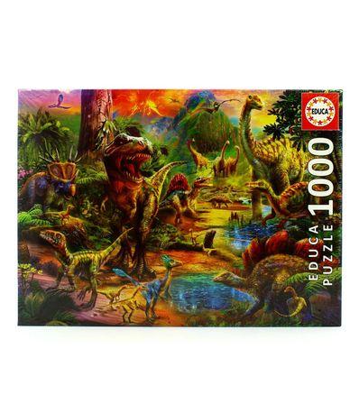 Puzzle-Tierra-de-Dinosaurios-de-1000-Piezas