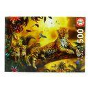 Puzzle-Leopardo-con-sus-Cachorros-de-500-Piezas