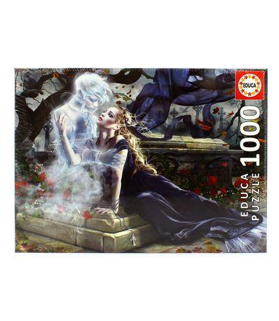 Puzzle-Gotico-Novia-de-Negro-de-1000-Piezas