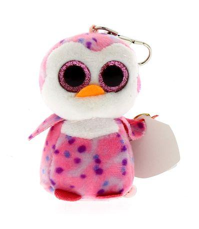Beanie-Boo-s-Porta-chaves-Pinguim-Rosa-de-Peluche