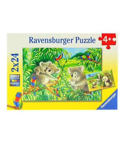 Puzzle-Koala-e-Panda-2-x-24-Pecas