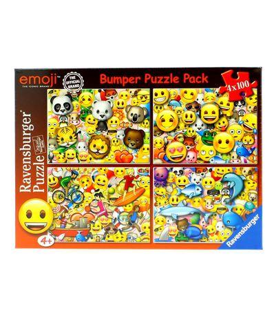 Emoji-Super-Pack-4-Puzzles-de-100-Pecas