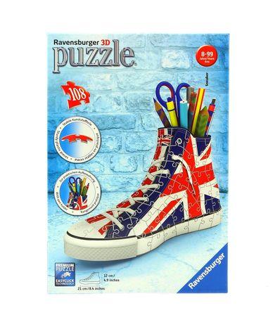 Puzzle-Sneaker-Union-Jack-Porta-Lapiz-3D