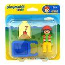Playmobil-123-Trabajador-con-Carretilla