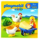 Playmobil-123-Granjera-con-Gallina
