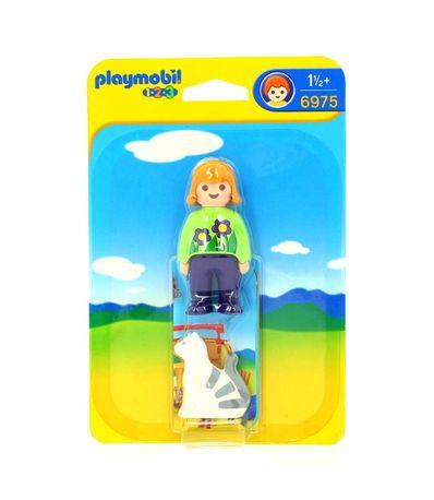 Playmobil-123-Mulher-com-Gato