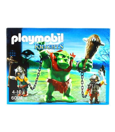 Playmobil-Knights-Trol-Gigante-con-Luchadores