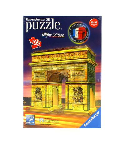 Puzzle-Arco-do-Triunfo-Night-Edition-em-3D