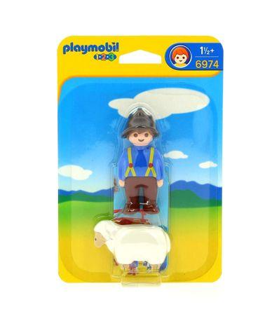 Playmobil-123-Campones-com-Ovelha