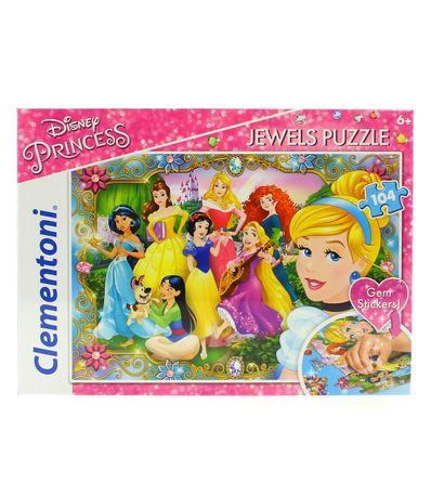 Princesas-Disney-Puzzle-con-Piedras-Preciosas-de-104-Piezas