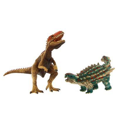 Figura-de-Saichania-e-Giganotosaurus