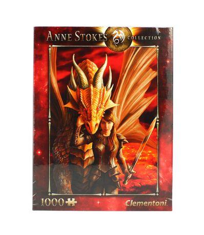 Puzzle-Anne-Stokes-Dragao-de-1000-Pecas