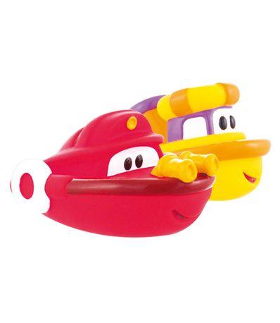 Barcos-de-criancas-para-o-capitao-de-banho-e-rebocador