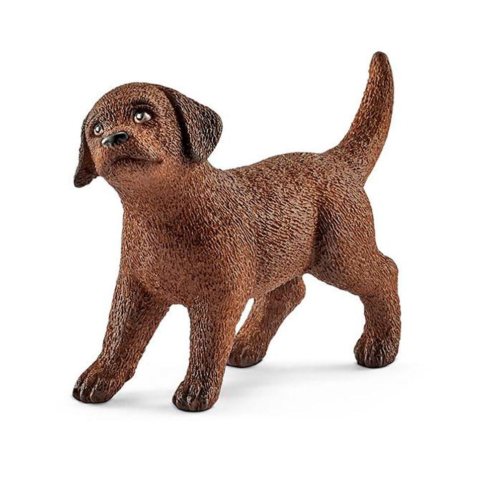 3+ Schleich Chocolate Labrador Cachorro figura 13835-Modelo-Infantil
