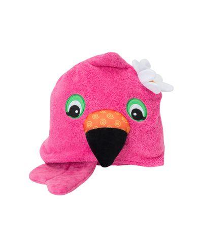 Menina-de-toalha-com-capuz-Flamingos