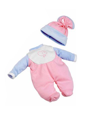 Roupa-do-bebe-Pijama-Manga-Rosa-Azul