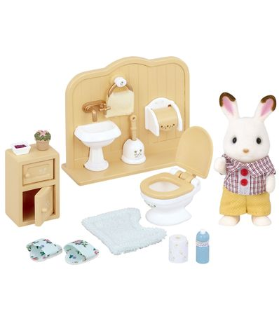 Sylvanian-Families-Conejo-Chocolate-Set-Hermano
