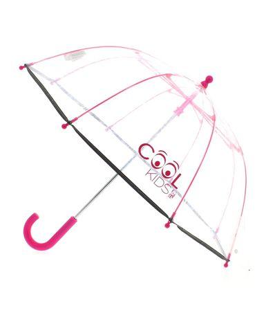 Guarda-chuva-infantil-Fucsia-Dome