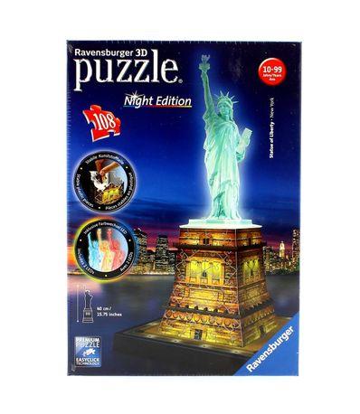 Puzzle-Estatua-dla-Libertade-Night-3D