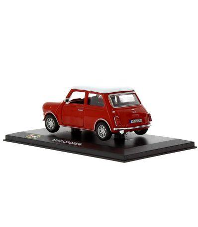 Coche-Miniatura-Mini-Cooper-Rojo-Peana-y-caja-Escala-1-32