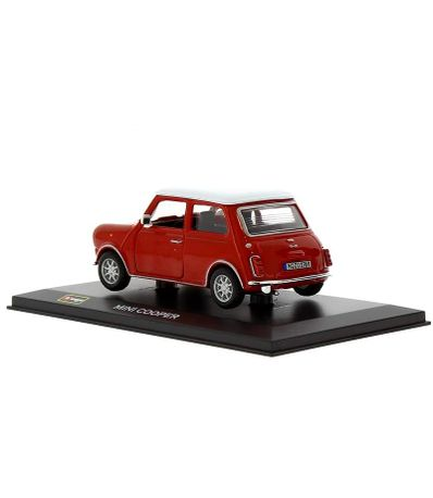 Carro-diminuto-Mini-Cooper-Base-e-Red-Box-1-32-Scale