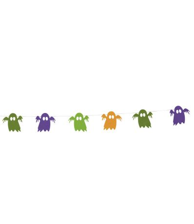 Decoracao-de-Halloween-Guirlanda-Fantasmas-Feltro