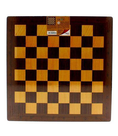 Chess-et-dames-en-bois