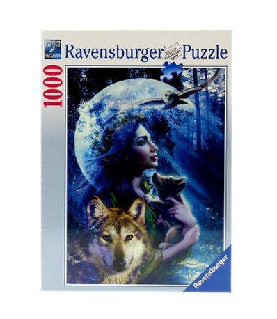 Puzzle-la-Femme-et-le-Loup-de-1000-pieces