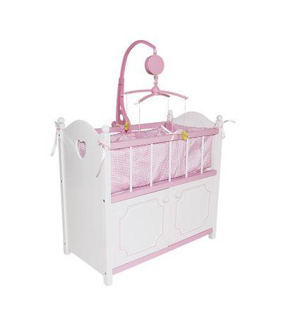 Lit-de-bebe-blanc-avec-garde-robe-et-mobile