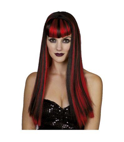 Carnaval-perruque-ajouter-Lisa-Rouge---Noir