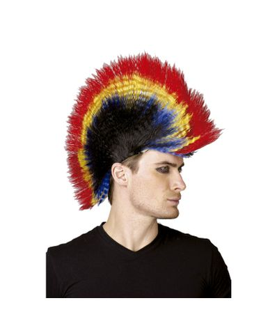 Perruque-de-Punk-Multicolore