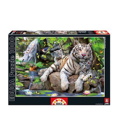 Puzzle-1000-Pieces-Tigres-Blancs