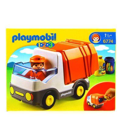 Playmobil-123-Camion-Poubelle