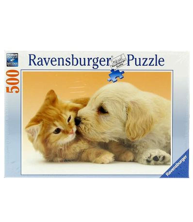 Puzzle-Gros-Bisou-Animal-de-500-Pieces