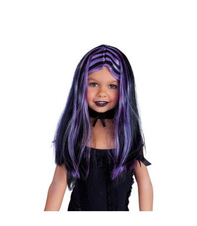 Perruque-noire-avec-meches-lilas-pour-enfant