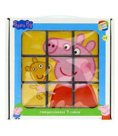 Pegga-Pig-Casse-tete-de-9-Cubes