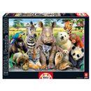 Animal-Puzzle-Photo-de-classe-1000-pieces