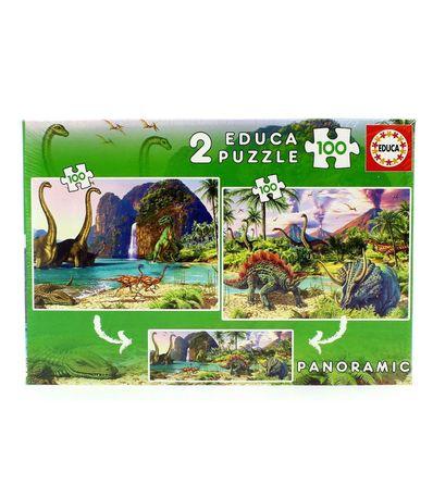 Dino-Monde-Puzzle-2x100-2x100