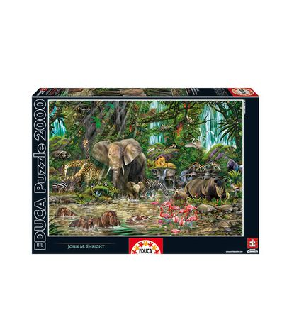 Puzzle-Jungle-Africaine-2000-pieces