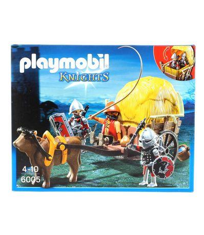 Playmobil-Chevaliers-du-Faucon-avec-Caleche